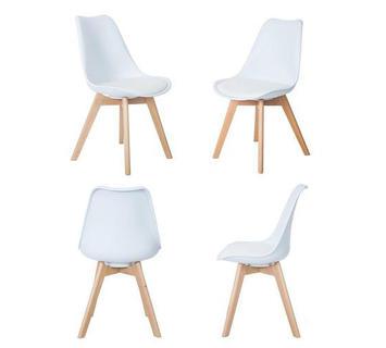 Sedie dal design moderno ergonomiche in legno o ecopelle ...
