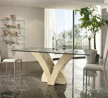 Tavoli Per Soggiorno Vetro.Tavoli Sala Da Pranzo Moderni Anche Salvaspazio Con Sedie A