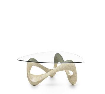 Tavoli In Pietra E Cristallo.Tavolini Da Salotto In Pietra Fossile E Cristallo Duzzle