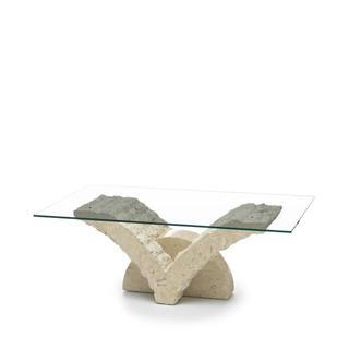Base Per Tavolo Di Cristallo.Tavolini Da Salotto In Pietra Fossile E Cristallo Duzzle