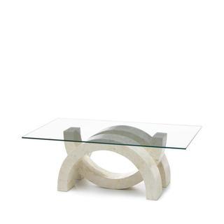 Basi In Pietra Per Tavoli In Cristallo.Tavolini Da Salotto In Pietra Fossile E Cristallo Duzzle